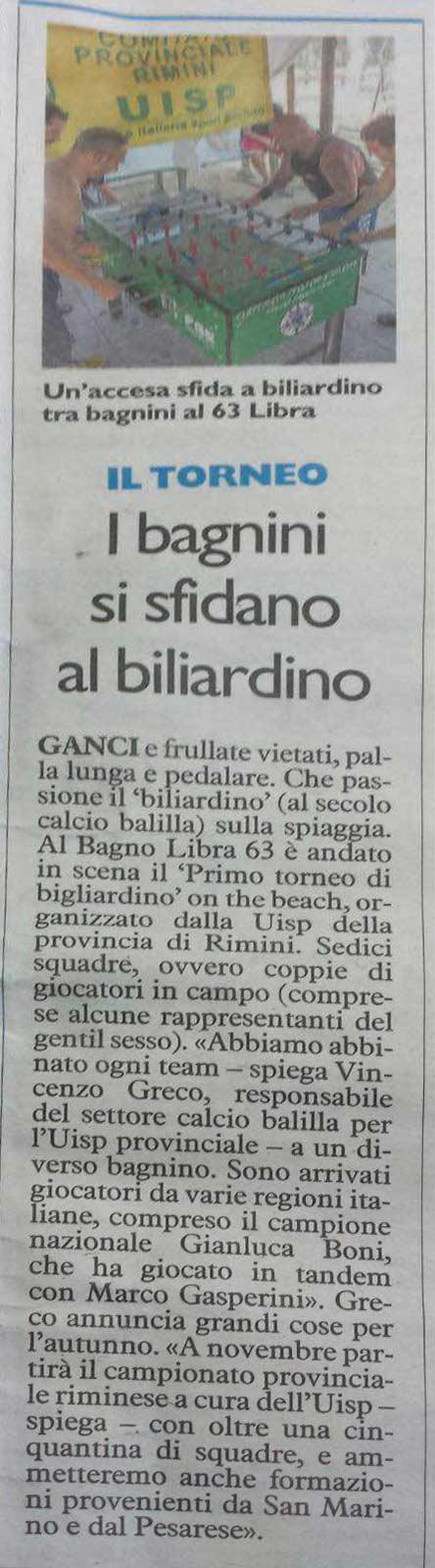 Biliardino in spiaggia
